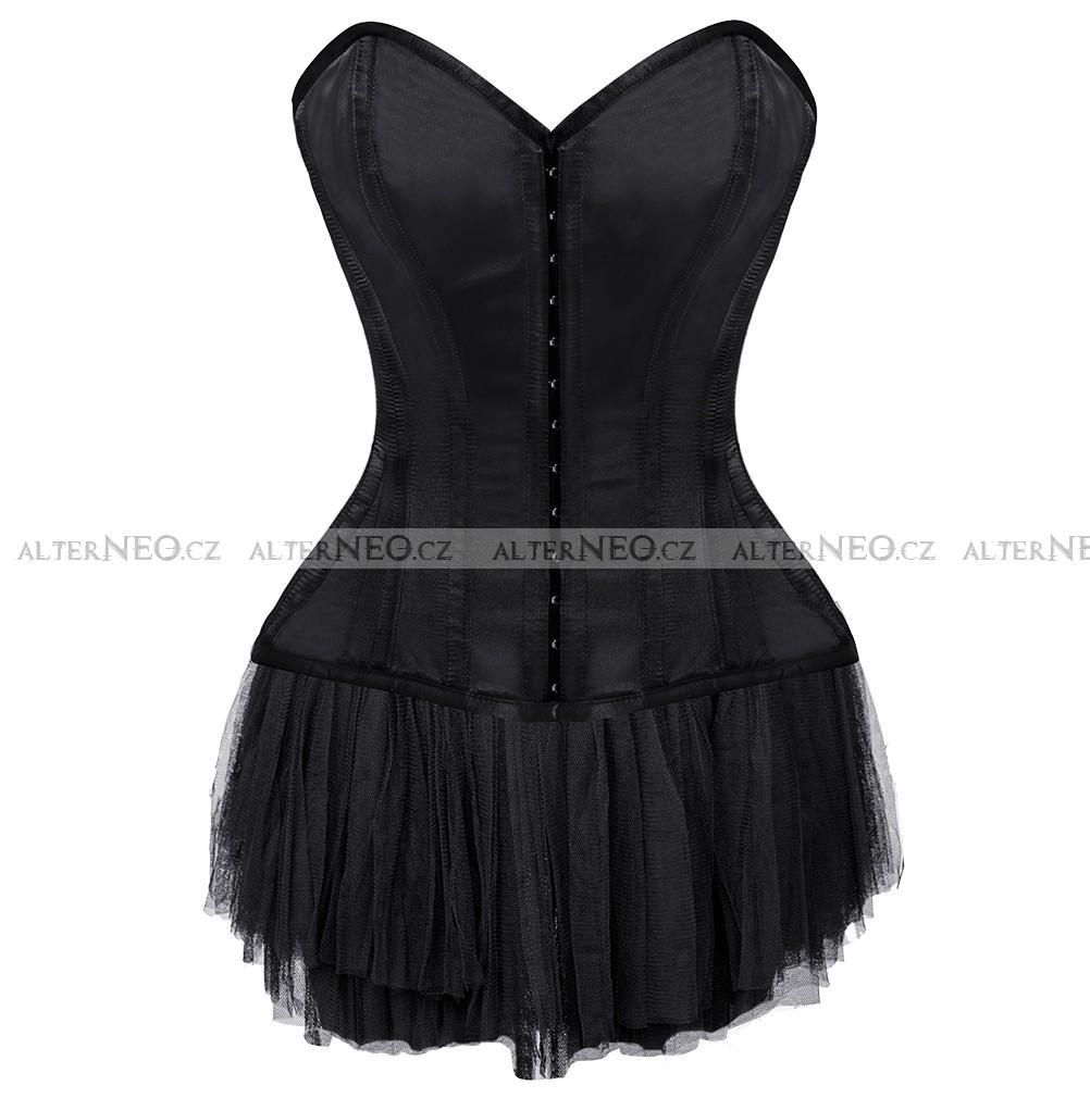 f3785cb088f0 Černé korzetové krátké šaty Mallory 920Kč