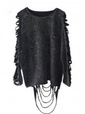 Punk Gothic Postapo hollow out top