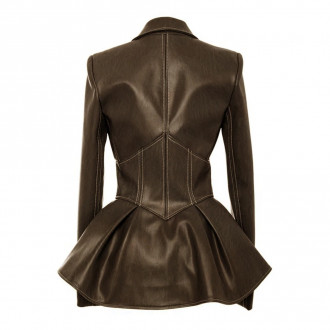 Steampunk vintage faux leather jacket