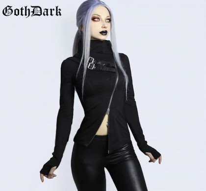Gothic rolák top Deep Black Pleasure